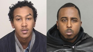 Abdiweli Abdullahi (left) and Mohamed Abdiwal Dirie, both 26, have been identified as the victims who were fatally shot at a Lisgar Street apartment building Sunday June 28, 2015. (Police Handout)