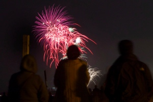 Fireworks explode over the skies of Toronto in this file photo. (Chris Young /The Canadian Press)