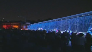 'Luminous Veil' lights up Bloor Viaduct ahead of Pan Am Games