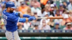 Toronto Blue Jays' Jose Bautista hits a two-run home run off Detroit Tigers' Justin Verlander during the fifth inning of a baseball game on July 5, 2015, in Detroit. (Duane Burleson / AP Photo)