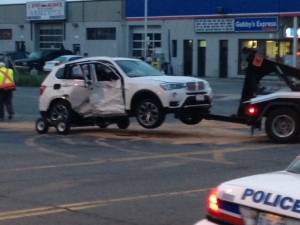 One motorcyclist is dead after colliding with a car in Etobicoke overnight. (Cam Woolley/ CP24)