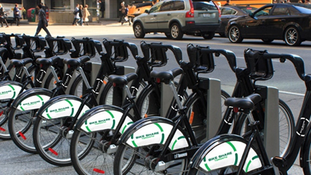 The Ontario government has announced a nearly- $5 million investment in Bike Share Toronto, promising to double the city's current network. (Bike Share Toronto)
