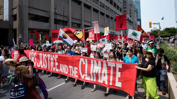 Get a unique view inside (and above) Montreal's half-million climate march