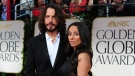Musician Chris Cornell and wife Vicky Karayiannis (©AFP Photo/ Frederic J. Brown)