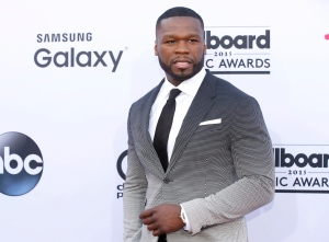 50 Cent arrives at the Billboard Music Awards at the MGM Grand Garden Arena in Las Vegas on May 17, 2015. (Eric Jamison / Invision)