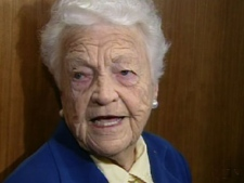 Mississauga Mayor Hazel McCallion reacts to the news of the murder of her close friend on Monday, Nov. 10, 2008.