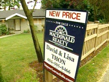 The national average home price is forecast to ease by 2.1 per cent to below $300,000 in 2009, according to a report by the Canadian Real Estate Association.