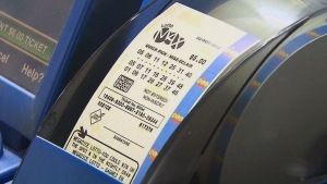 A Lotto Max ticket is seen in this undated file photo.