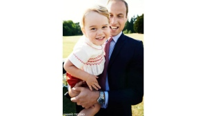 "This photo of Prince William and his son Prince George was released by Kensington Palace via Twitter on July 21, 2015. The palace tweeted, ""Look who's turning two tomorrow! #HappyBirthdayPrinceGeorge"""
