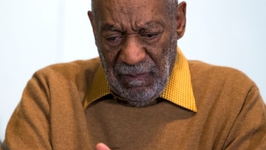 In this Nov. 6, 2014, file photo, entertainer Bill Cosby pauses during a news conference about an upcoming exhibit at the Smithsonian's National Museum of African Art in Washington. (AP /Evan Vucci)