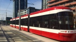 A TTC streetcar is seen on Spadina Avenue in this file photo. (Courtney Heels/CP24)