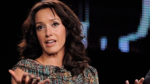 "Jennifer Beals, a cast member in the FOX series ""The Chicago Code,"" takes part in a panel discussion during the FOX Broadcasting Company Television Critics Association winter press tour in Pasadena, Calif., Tuesday, Jan. 11, 2011. Beals is in hot water for reportedly leaving her dog in a hot car. Global News in Vancouver filmed the Golden Globe-nominated ""Flashdance"" star returning to her Ford Escape with her large dog inside and the window cracked a few inches. THE CANADIAN PRESS/AP/Chris Pizzello"