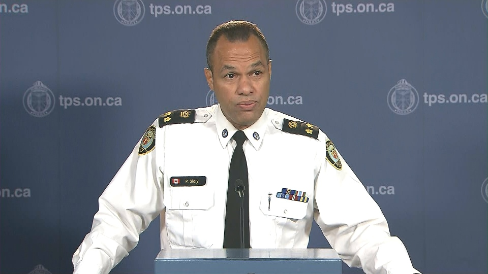 Deputy Police Chief Peter Sloly speaks at a news conference at Toronto Police headquarters Tuesday August 4, 2015.