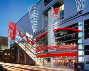 The newly named Scotiabank Theatre Toronto, formerly known as the Paramount Toronto, is shown in this artist's rendering. Scotiabank has also acquired naming rights to four other major Cineplex facilities in Montreal, Calgary, Edmonton and Vancouver. (CCNMATTHEWS PHOTO/Michael Claessens at Watt International Inc./Cineplex Entertainment)