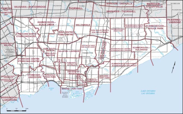 Toronto Ward Map