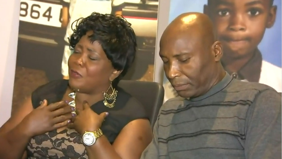 Auline Lewis and Delroy Hibbert, the parents of Muzik shooting victim Duvel Hibbert, sit down for an interview with CP24's Travis Dhanraj Thursday August 13, 2015.