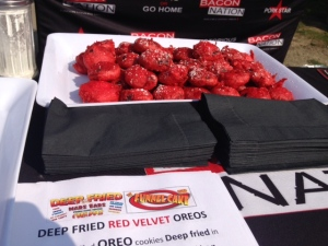 Deep fried velvet oreos. (Cam Woolley/ CP24)