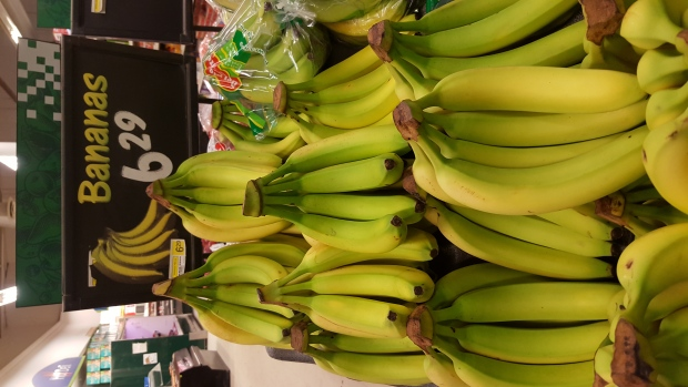 Bananas are shown for sale at a store in Sandy Lake, Ontario. (Sandie Benitah/CP24.com)