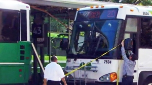 A GO bus involved in a collision at Union Station is shown in this file photo.