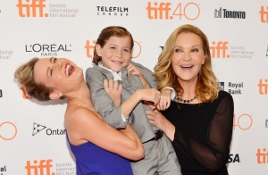 "Brie Larson, from left, Jacob Tremblay and Joan Allen attend a premiere for ""Room"" on day 6 of the Toronto International Film Festival at the Princess Of Wales Theatre on Tuesday, Sept. 15, 2015, in Toronto. (Photo by Evan Agostini/Invision/AP)"