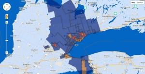Toronto & GTA Ridings Map - Federal Election 2015
