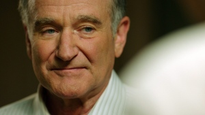 """In this image released by Starz Digital, Robin Williams appears in a scene from the film, """"Boulevard."""" (Starz Digital via AP)"""