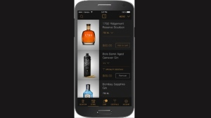 The Thirstie app is shown on an iPhone in this undated handout photo. The new smartphone app hopes to convince more Canadians to stay at home when they're shopping for a bottle of wine.THE CANADIAN PRESS/HO - Thirstie