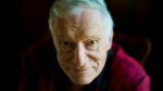 American magazine publisher, founder and chief creative officer of Playboy Enterprises, Hugh Hefner at his home in Beverly Hills, Calif. on Oct. 13, 2011. (AP / Kristian Dowling)
