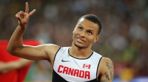 Andre de Grasse, pictured at the 2015 Track and Field World Championships in Beijing. (Gladys Chai von der Laage)