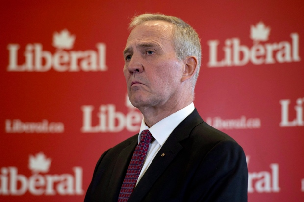 Former Toronto police chief Bill Blair attends a news conference with Liberal Leader Justin Trudeau in Ottawa, Monday April 27, 2015. THE CANADIAN PRESS/Adrian Wyld