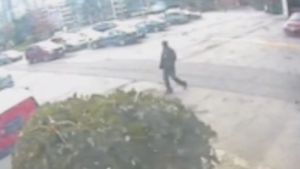 A still image captured from security camera footage shows a person of interest in an attempted abduction of a nine-year-old, boy in Thorncliffe Park. (Handout)