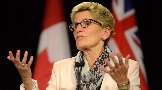 Ontario Premier Kathleen Wynne during a media availability at Queen's Park in Toronto, Thursday, Oct, 1, 2015. THE CANADIAN PRESS/Marta Iwanek