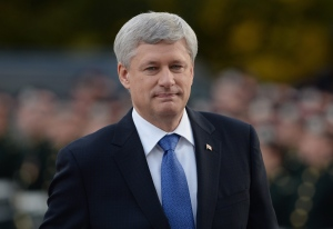 Prime Minister Stephen Harper arrives at a ceremony marking the one year anniversary of the attack on Parliament hill Thursday Oct. 22, 2015 at the National War Memorial in Ottawa. THE CANADIAN PRESS/Sean Kilpatrick