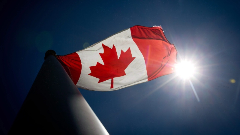 A Canadian flag flies in the wind in Vancouver, B.C., on Monday, June 30, 2014. (THE CANADIAN PRESS/Darryl Dyck)
