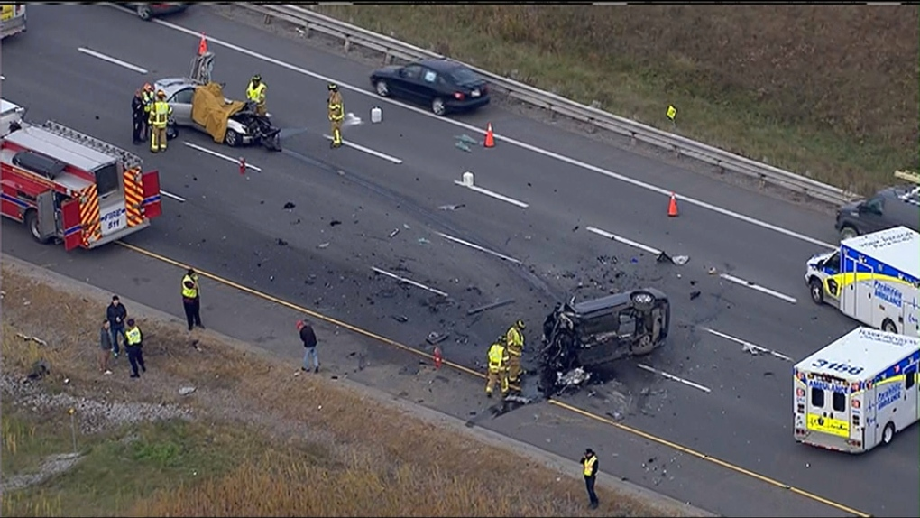 Fatal crash closes NB lanes of Highway 404 | CP24 com