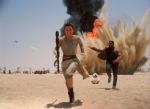 """This photo provided by Disney shows Daisey Ridley as Rey, left, and John Boyega as Finn, in a scene from the new film, """"Star Wars: The Force Awakens."""" (Film Frame/Disney/Lucasfilm via AP)"""