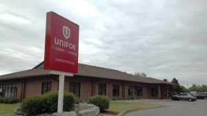 A Unifor office in Kitchener, Ont., is pictured on Monday, June 1, 2015. (Brian Dunseith / CTV Kitchener)