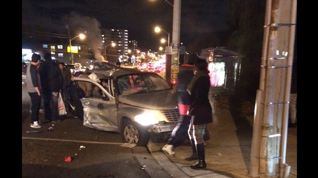Four injured, two seriously, after two-car crash in Downsview | CP24 com