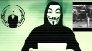 A member of the hacker group Anonymous says the group will retaliate against ISIS for the attacks on Paris in a video posted to YouTube Saturday, November 14, 2015. (YouTube)