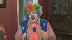 Doo Doo the clown (AKA Shane Farberman) speaks with CP24 Monday November 23, 2015.