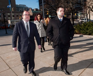 Const. James Forcillo, charged in the shooting death of Sammy Yatim, walks into court in Toronto, Wednesday, Nov. 25, 2015. (The Canadian Press/Marta Iwanek)