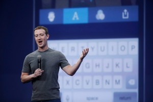 In this March 25, 2015, file photo, Mark Zuckerberg talks about the Messenger app during the Facebook F8 Developer Conference in San Francisco. (AP Photo/Eric Risberg)