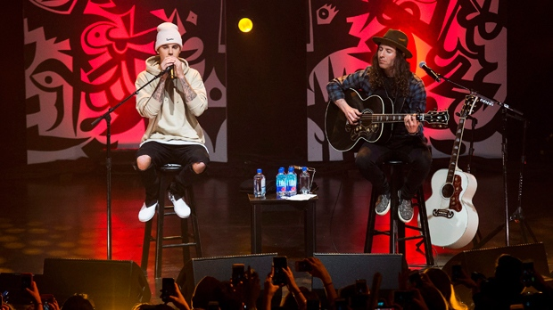 fed95a652f0 Bieber wows fans during acoustic show at Danforth Music Hall