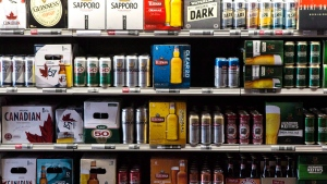 Beer products are on display at a Toronto beer store on Thursday, April 16, 2015. (Chris Young / THE CANADIAN PRESS)