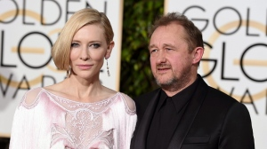 Cate Blanchett, left, and Andrew Upton arrive at the 73rd annual Golden Globe Awards on Sunday, Jan. 10, 2016, at the Beverly Hilton Hotel in Beverly Hills, Calif. (Photo by Jordan Strauss/Invision/AP)