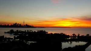 Toronto's skyline is seen at sunrise in this undated file photo. (Sandie Benitah/ CP24)