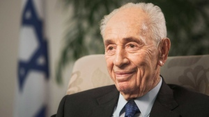 In this Nov. 2, 2015 file photo, former Israeli President Shimon Peres speaks during an interview with The Associated Press in Jerusalem. (AP /Dan Balilty)