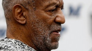 In this Wednesday, Dec. 30, 2015, file photo, Bill Cosby leaves the Cheltenham Township Police Department where he was processed after being arraigned on a felony charge of aggravated indecent assault in Elkins Park, Pa. Cosby's lawyers will be in court Tuesday, Feb. 2, 2016, seeking to have the charges dismissed. (AP Photo/Matt Rourke)
