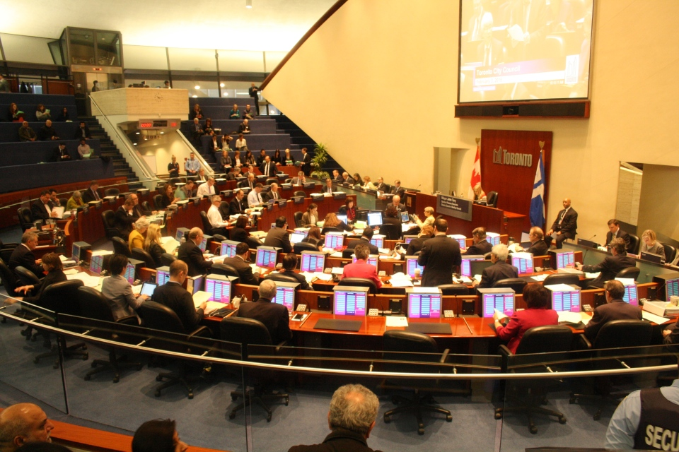 The council chambers is shown inside Toronto City Hall in this file photo. (Chris Fox/CP24.com)