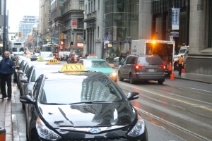 A taxi stand is shown in this file photo. (Chris Fox/CP24.com)
